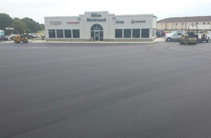 molstead motors charles city parking lot heartland asphalt