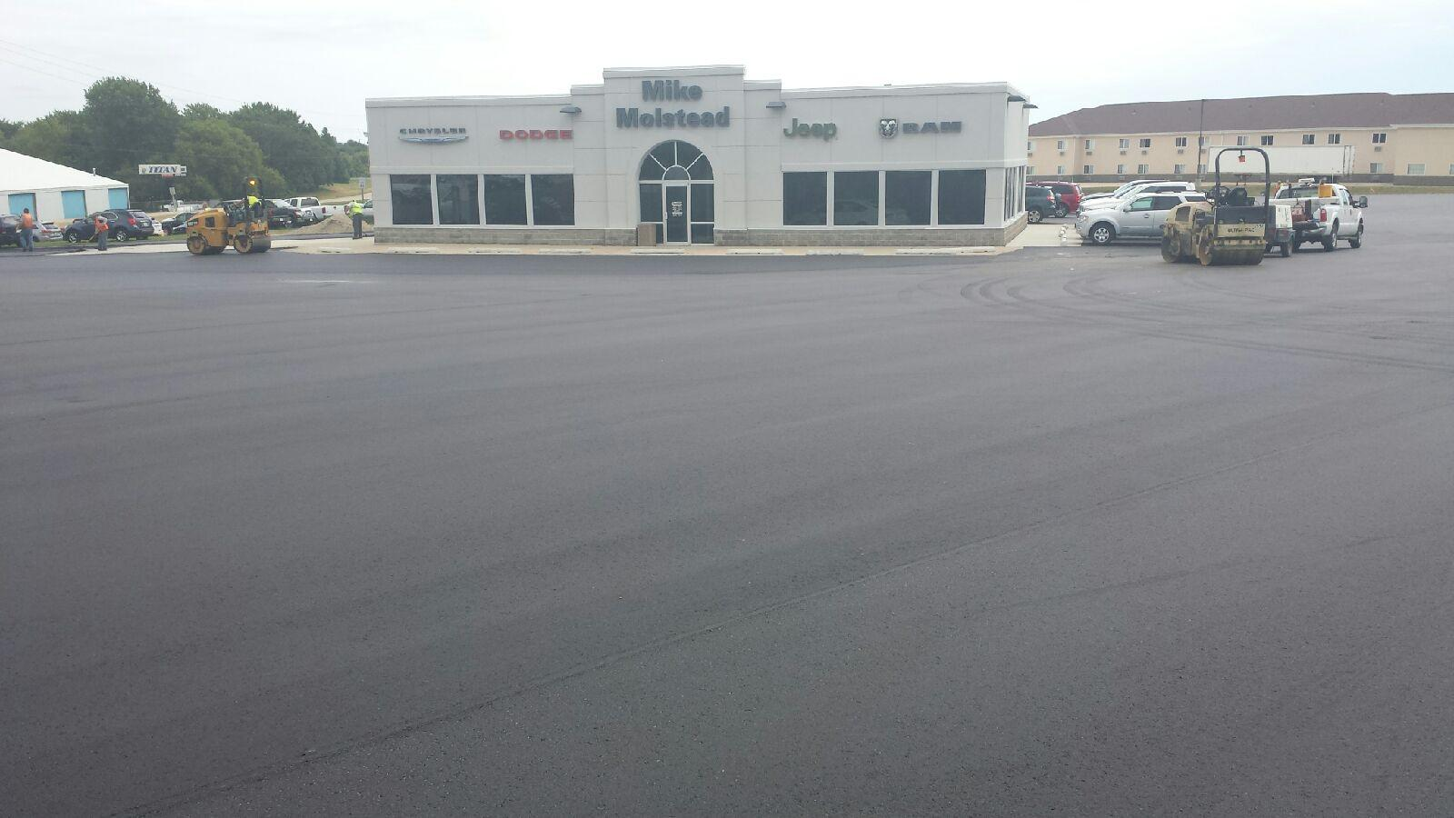 Molstead motors charles city parking lot heartland asphalt for Community motors mason city
